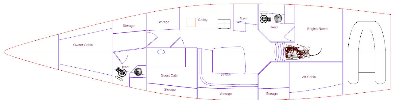KJ Engineering Consulting - 16m Concept Interior Configuration